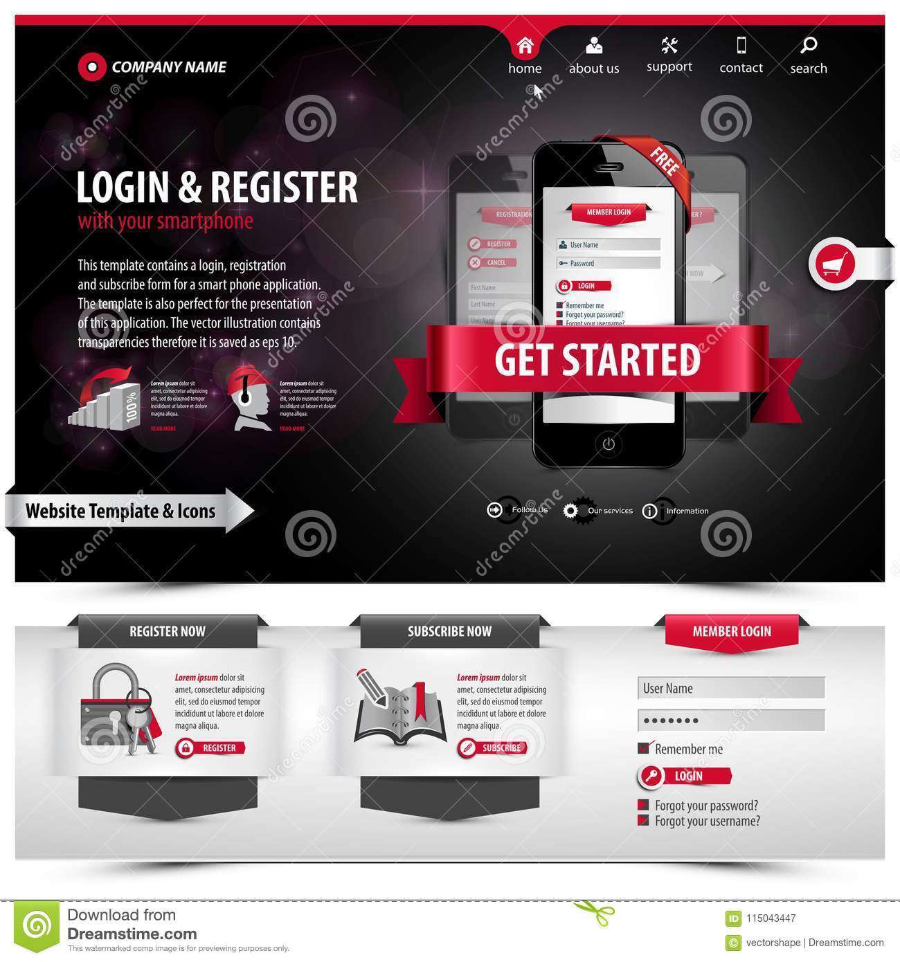 Website template design stock illustration. Illustration of graphic ...