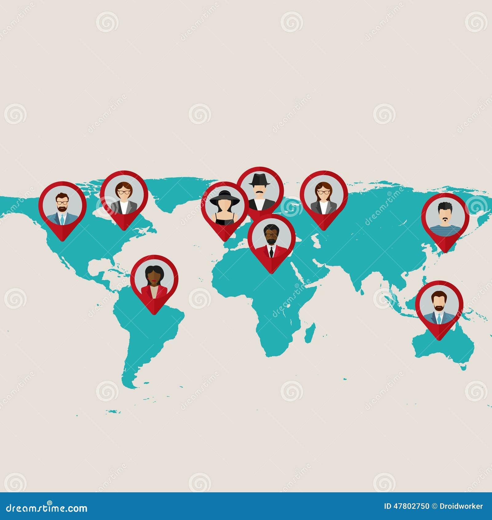 Website template designteamwork conceptflat world map with tags website template designteamwork conceptflat world map with tags points and destinations with flat faces avatar illustration 47802750 megapixl gumiabroncs Gallery