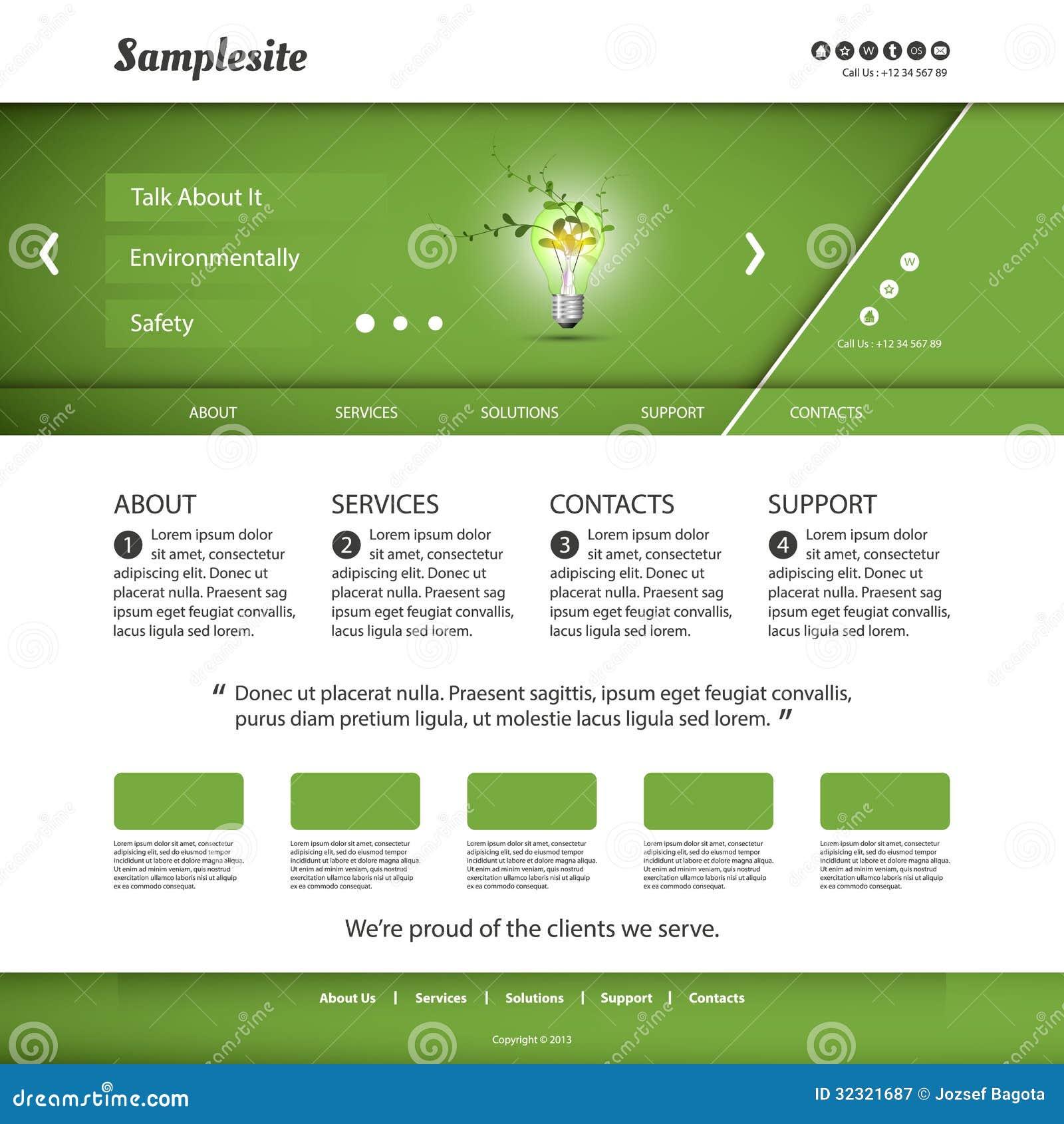Studio Lighting Website: Website Template Stock Vector. Image Of Blog, Creative