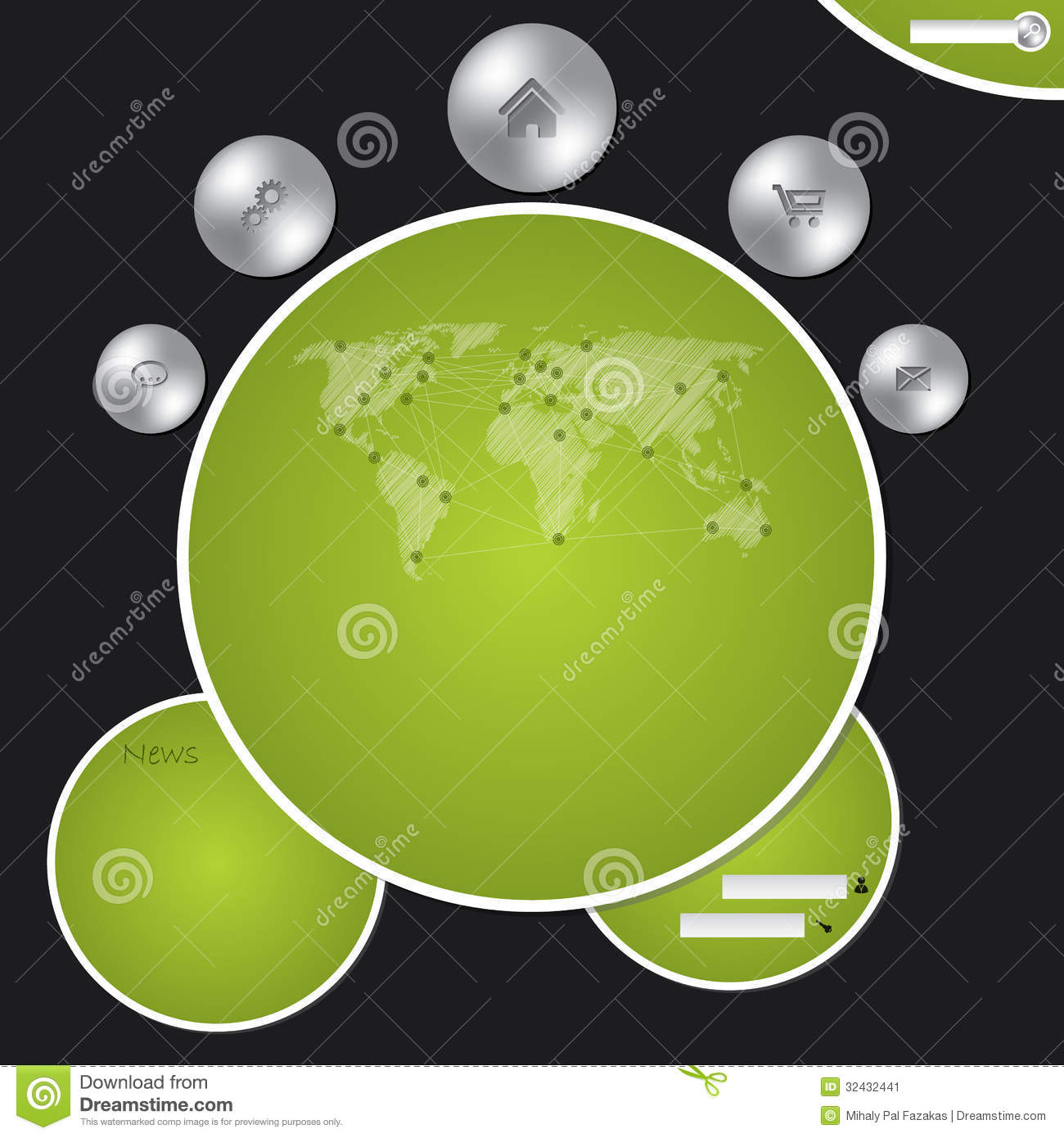 Website template with metallic buttons and world map stock vector website template with metallic buttons and world map stock vector illustration of navigation retail 32432441 gumiabroncs Images