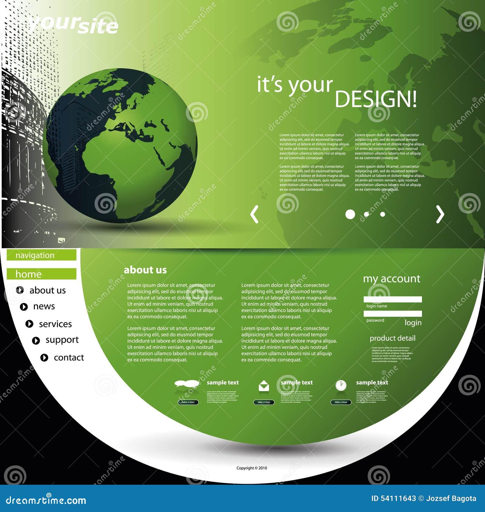 Website Template stock vector  Illustration of media - 54111643