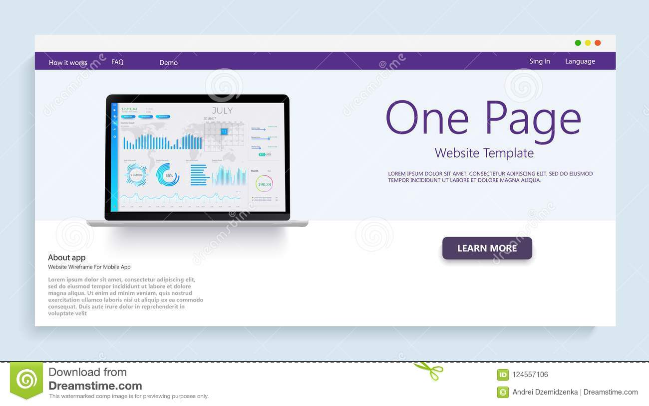Website Template For Websites, Or Apps Analysis Data And Investment
