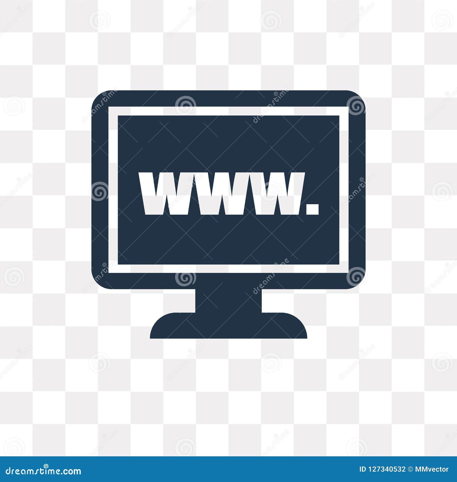 Website vectordiepictogram op transparante achtergrond, Website wordt geïsoleerd