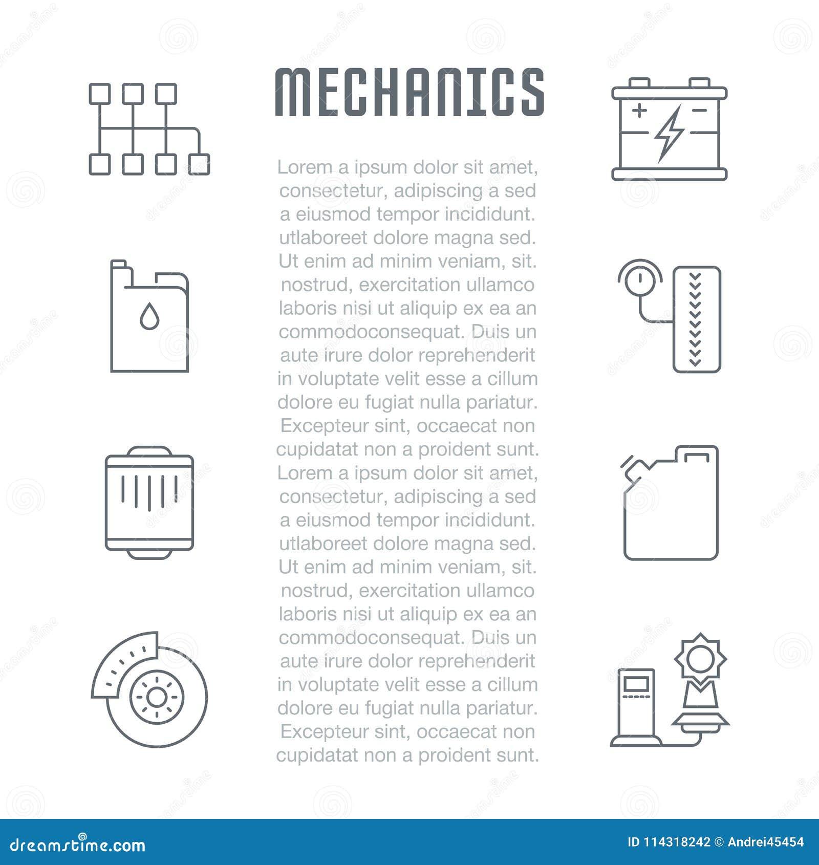 Websitebanner en Landende Pagina van Werktuigkundigen
