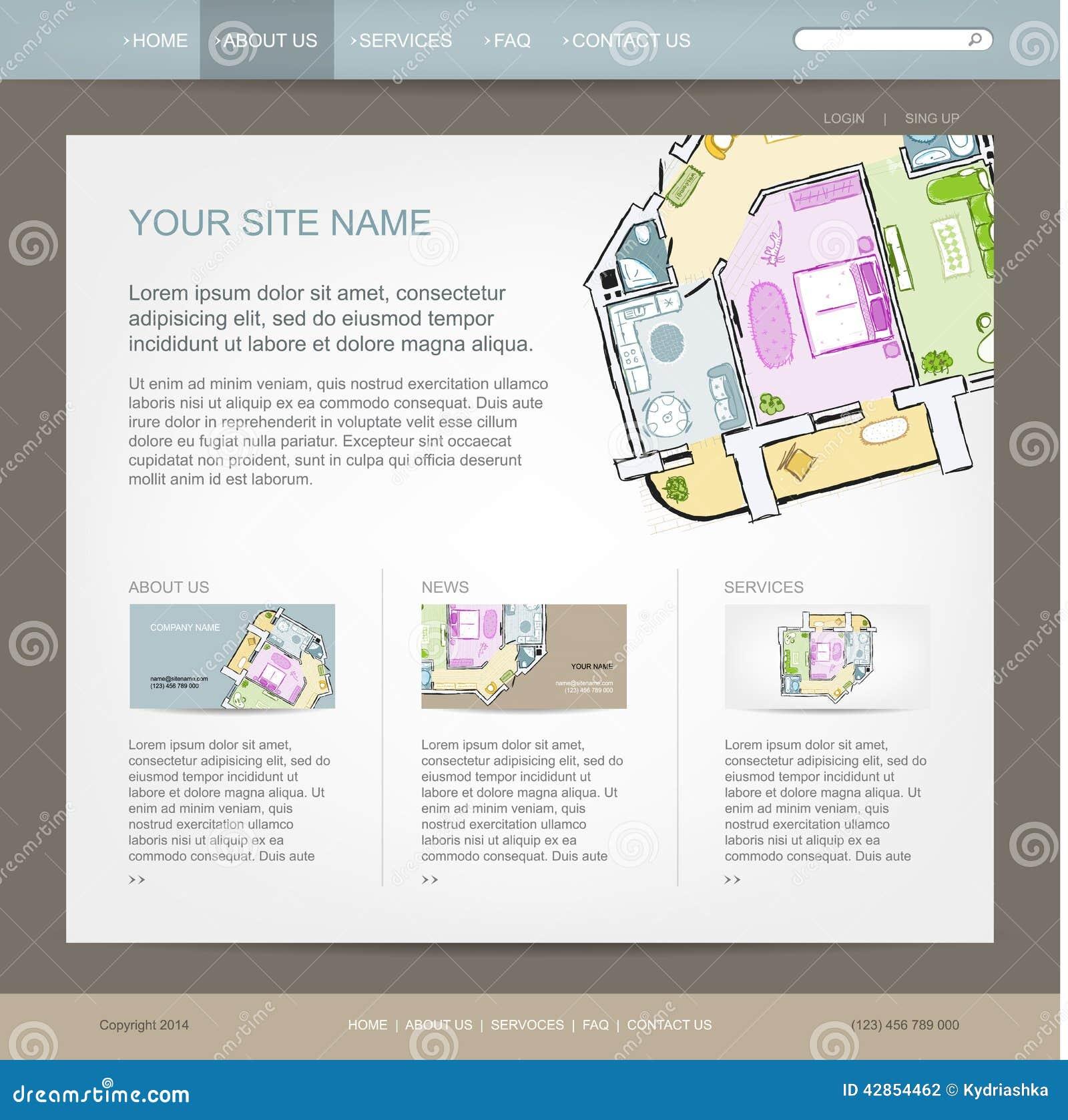 Websitedesignmall för byggfirma