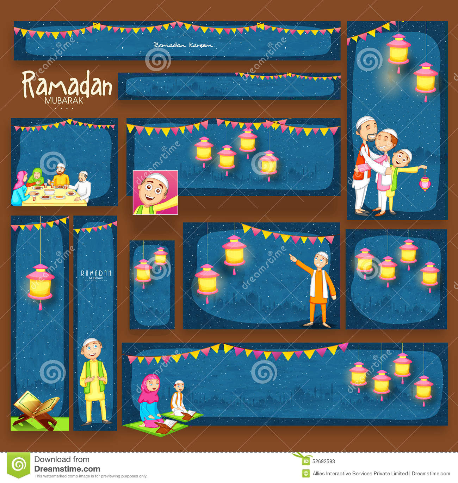 Websitekopbal of banner voor Ramadan Kareem-viering