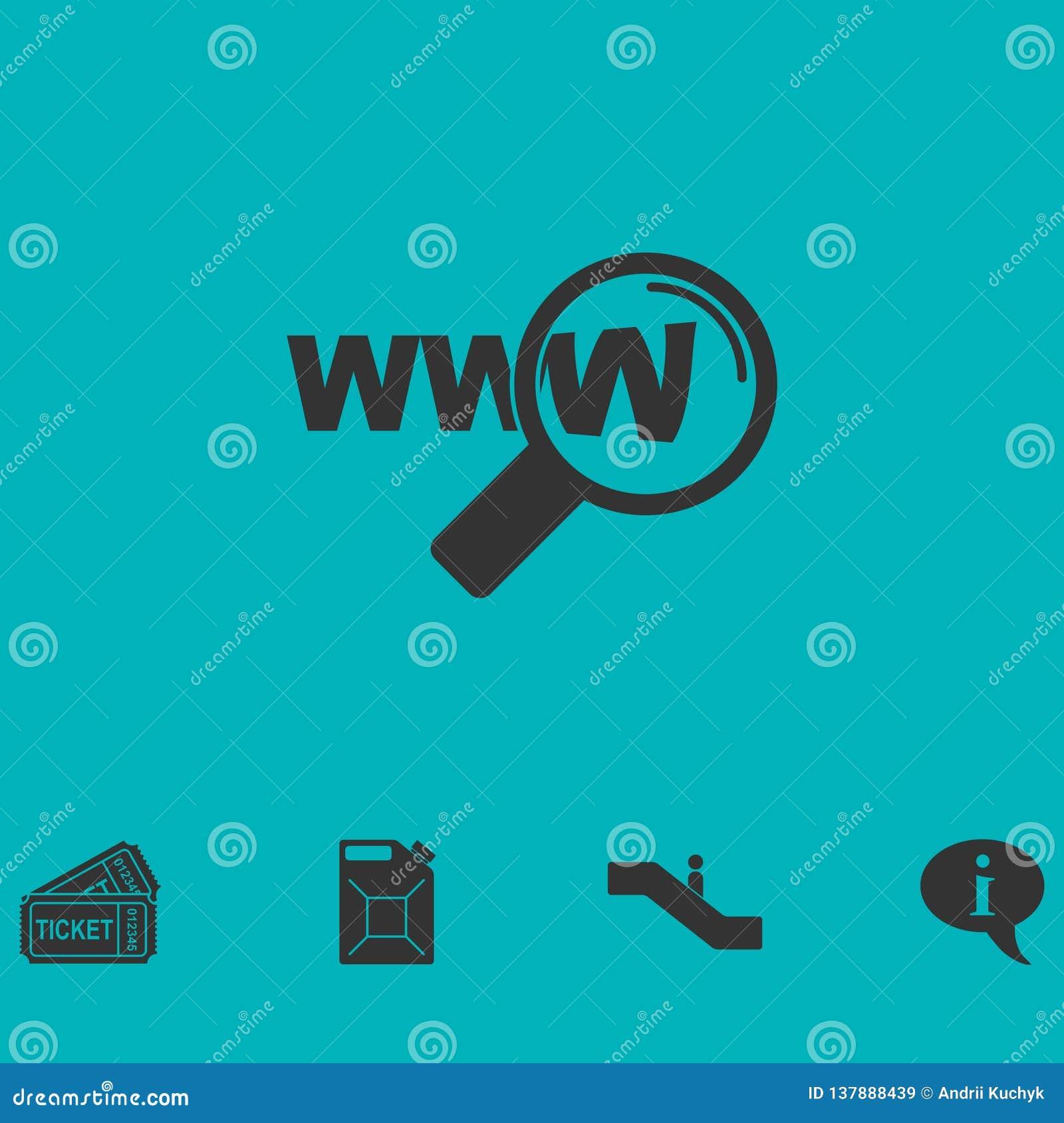 Websitesökandesymbol framlänges