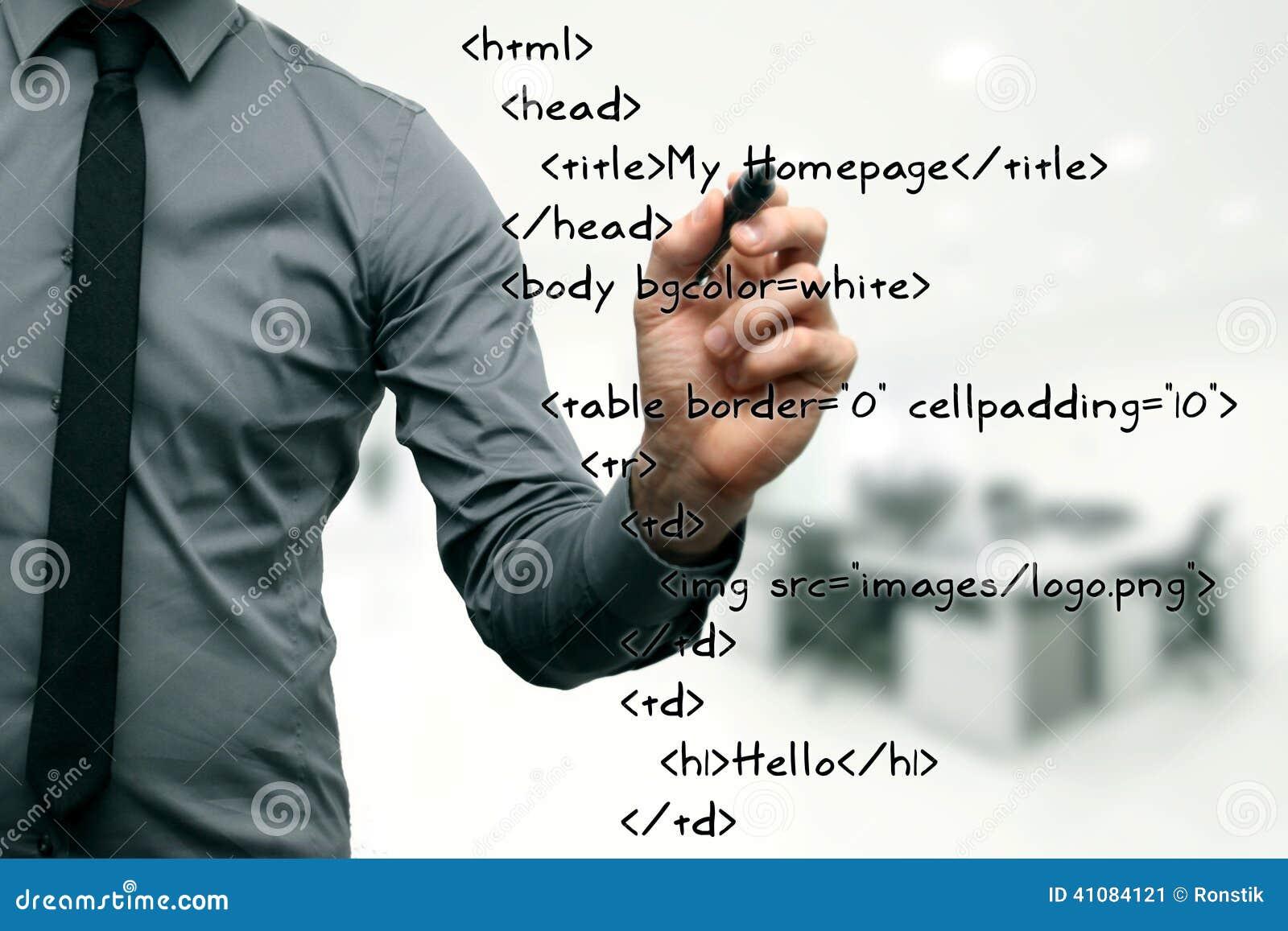 Websiteutveckling - programmerarehandstilkod