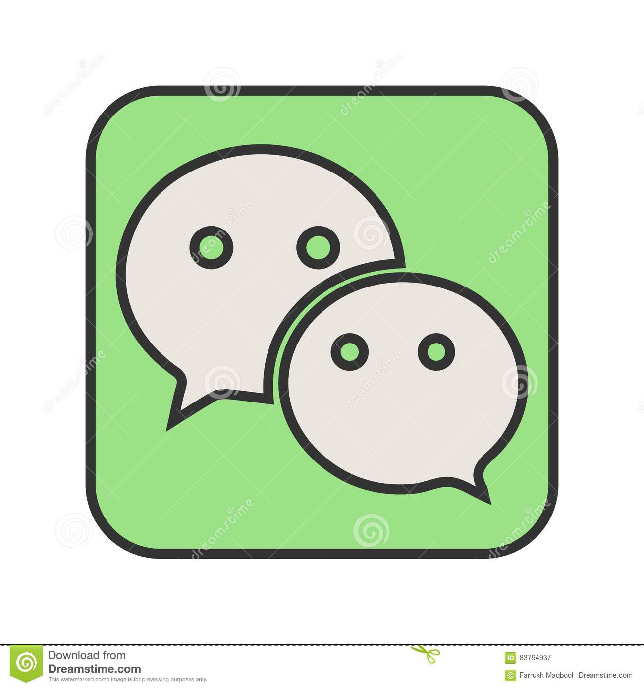 Wechat stock vector  Illustration of vector, wechat, call - 83794937