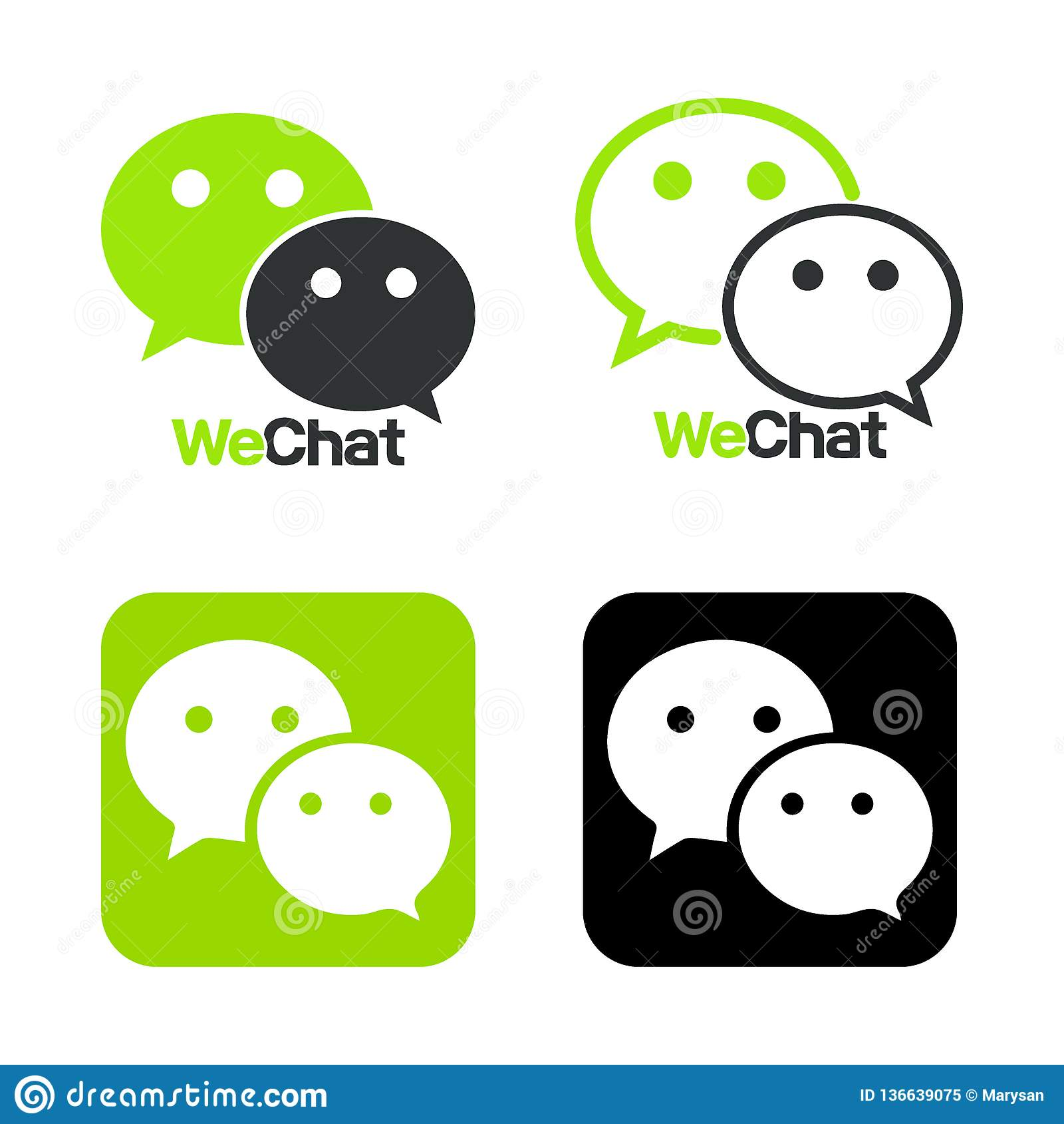 Wechat Logo, Symbol  Web Icon Comments Color  Messenger Icon