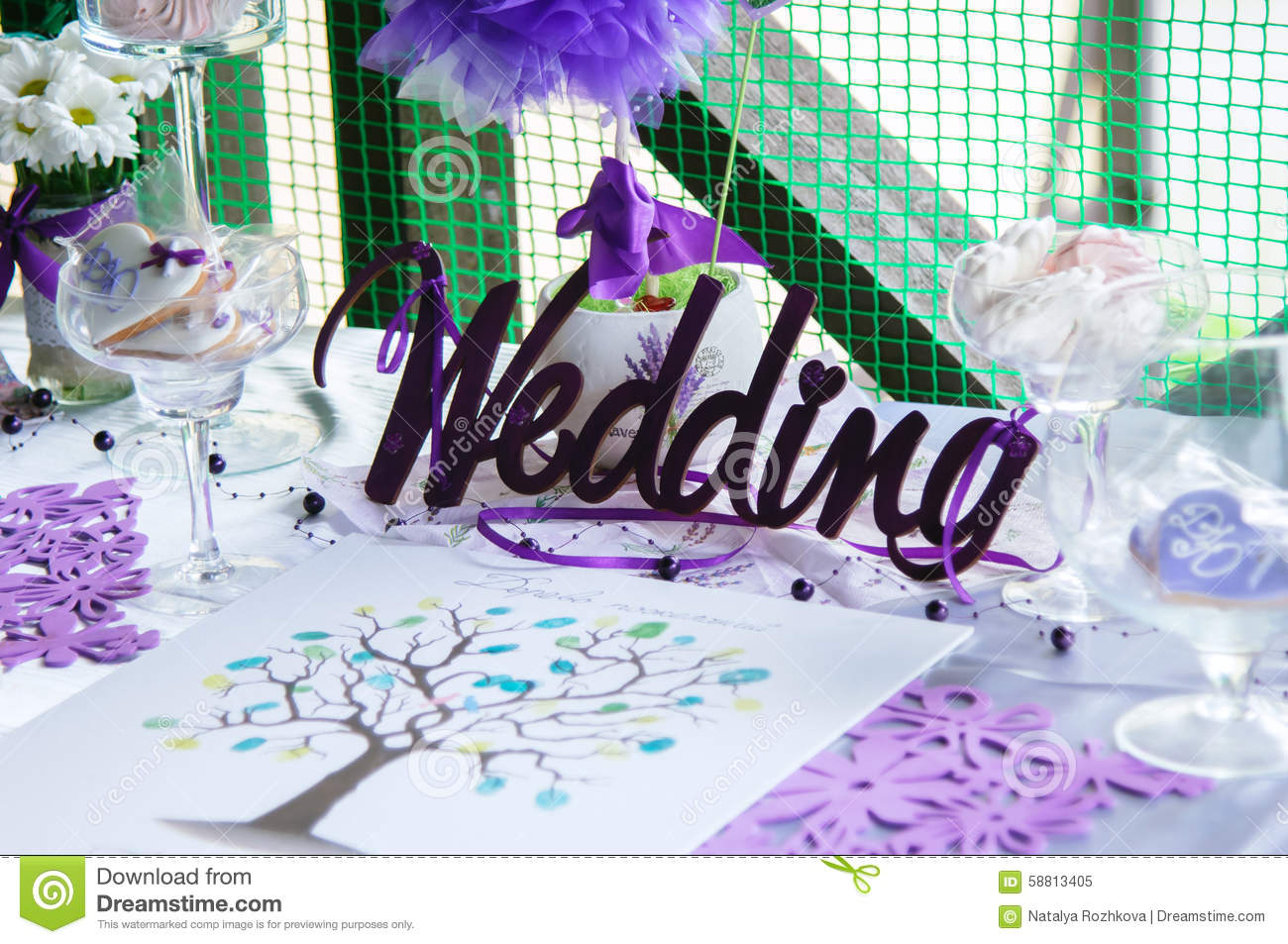 Wedding accessories decoration of the table stock illustration download comp junglespirit