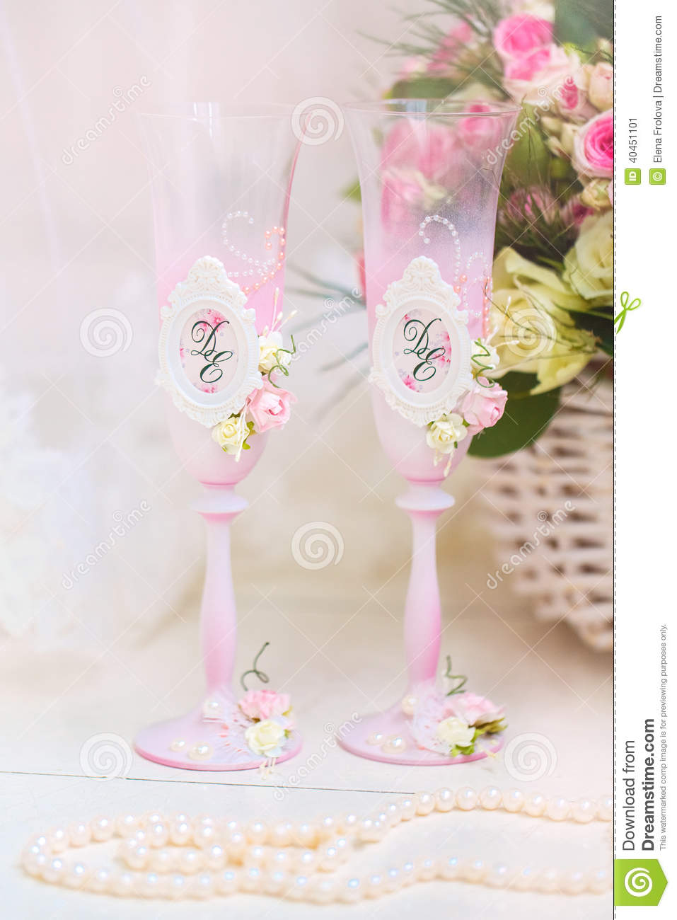 Morning Of Wedding Gift For Bride : Wedding accessories for the morning of the bride in pink . Wedding ...