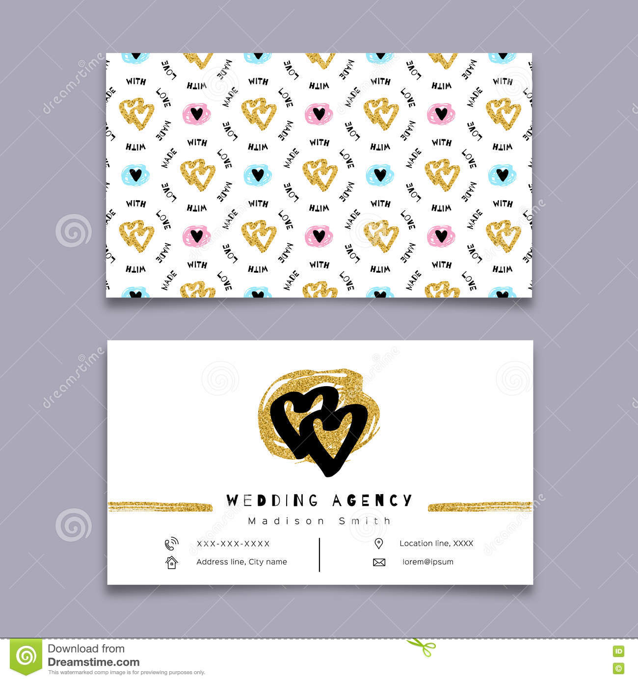Wedding Agency Business Card Event Planner Celebrations