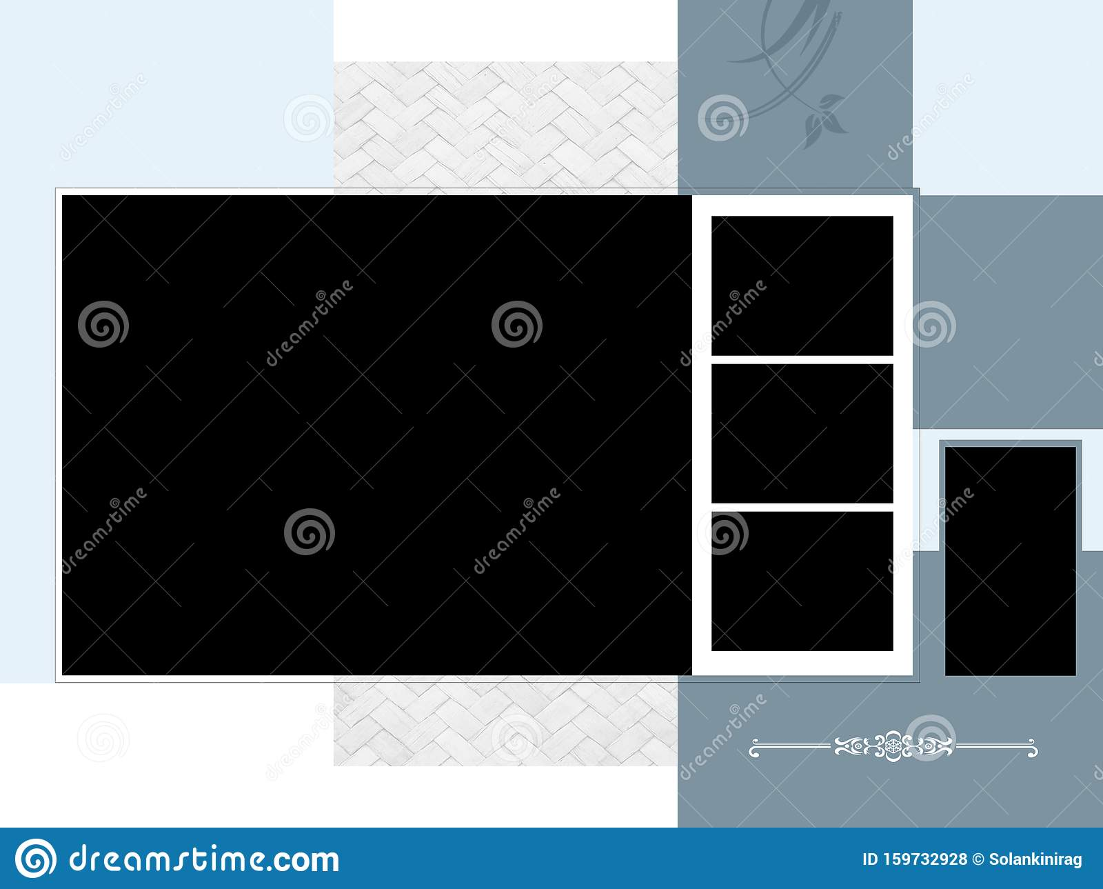 Wedding Album Cover Design Background Photo Frames Stock