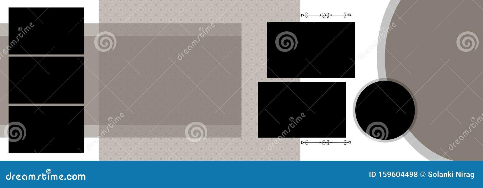 Wedding Album Design Background Photo Frames Stock