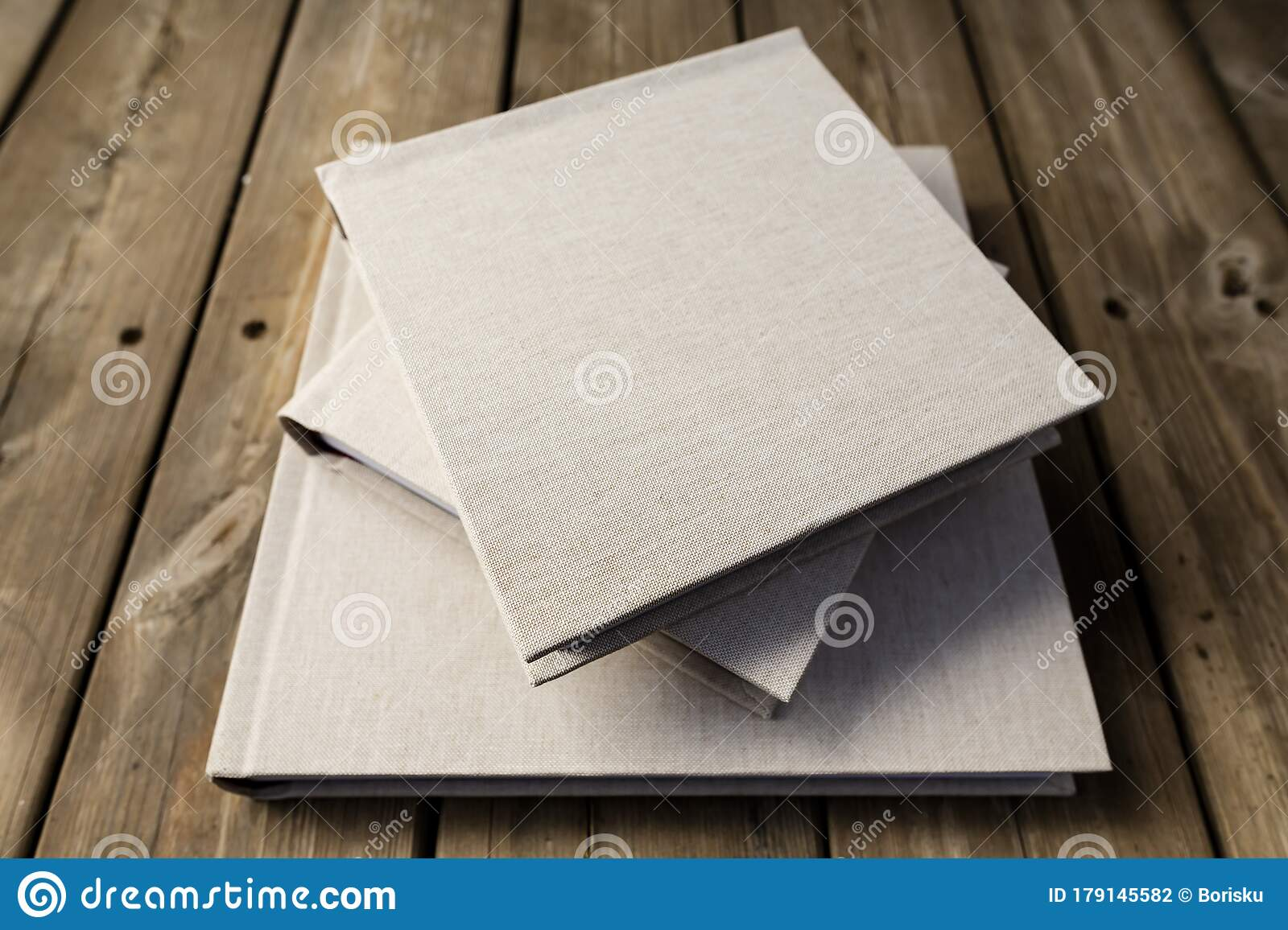 Wedding Albums On Wooden Background Stock Photo Image Of Creative Glossy 179145582