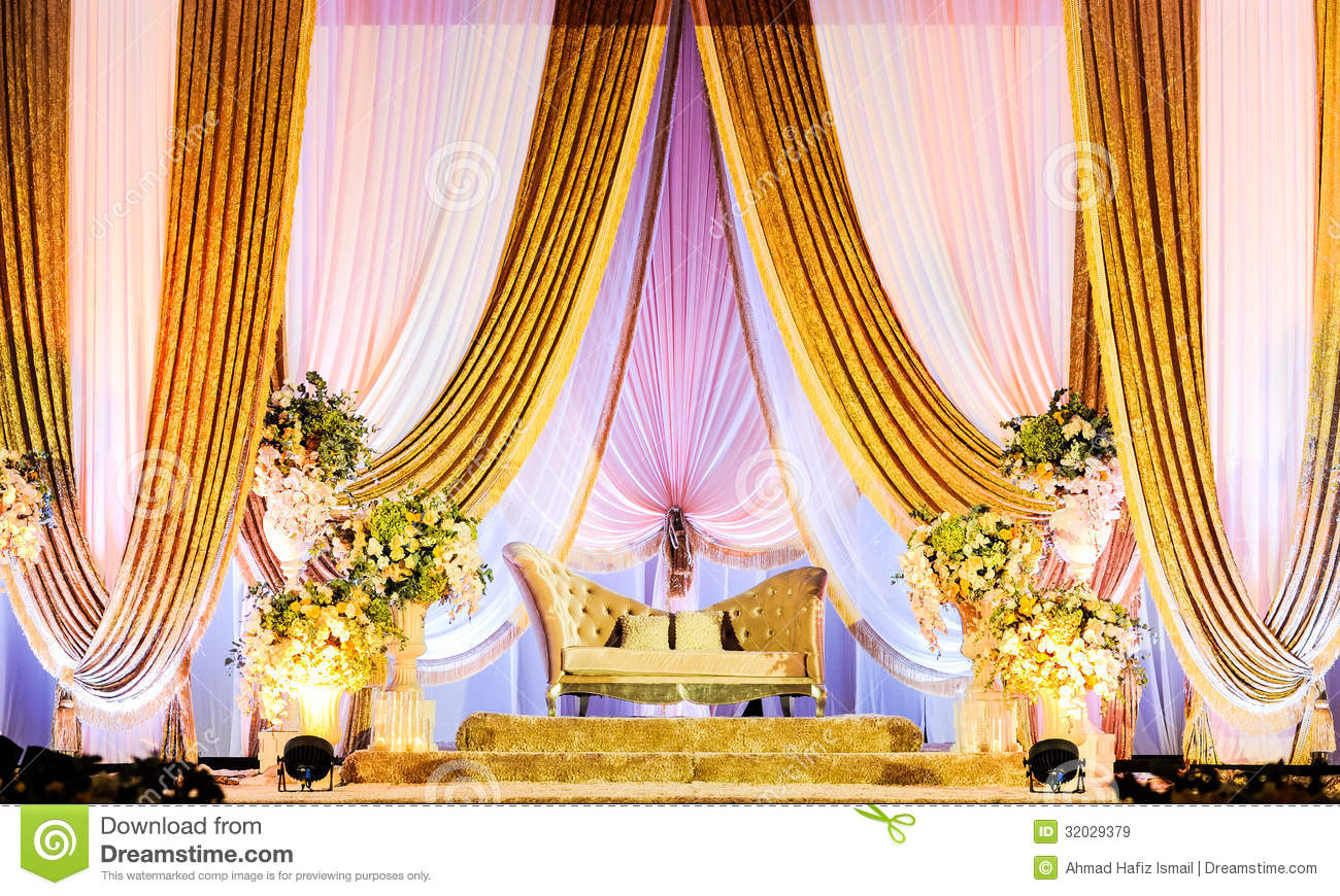 Wedding Altar Stock Image Image Of Pelamin Ornament