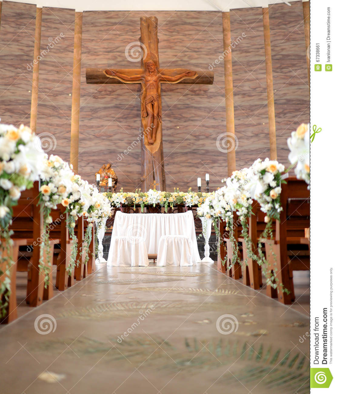 Wedding Altar Prices: Wedding Altar In The Church Stock Image
