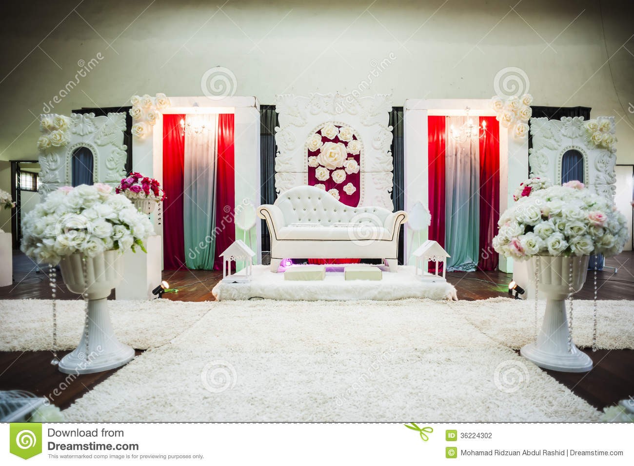 Wedding altar stock photography image 36224302 for Altar decoration wedding