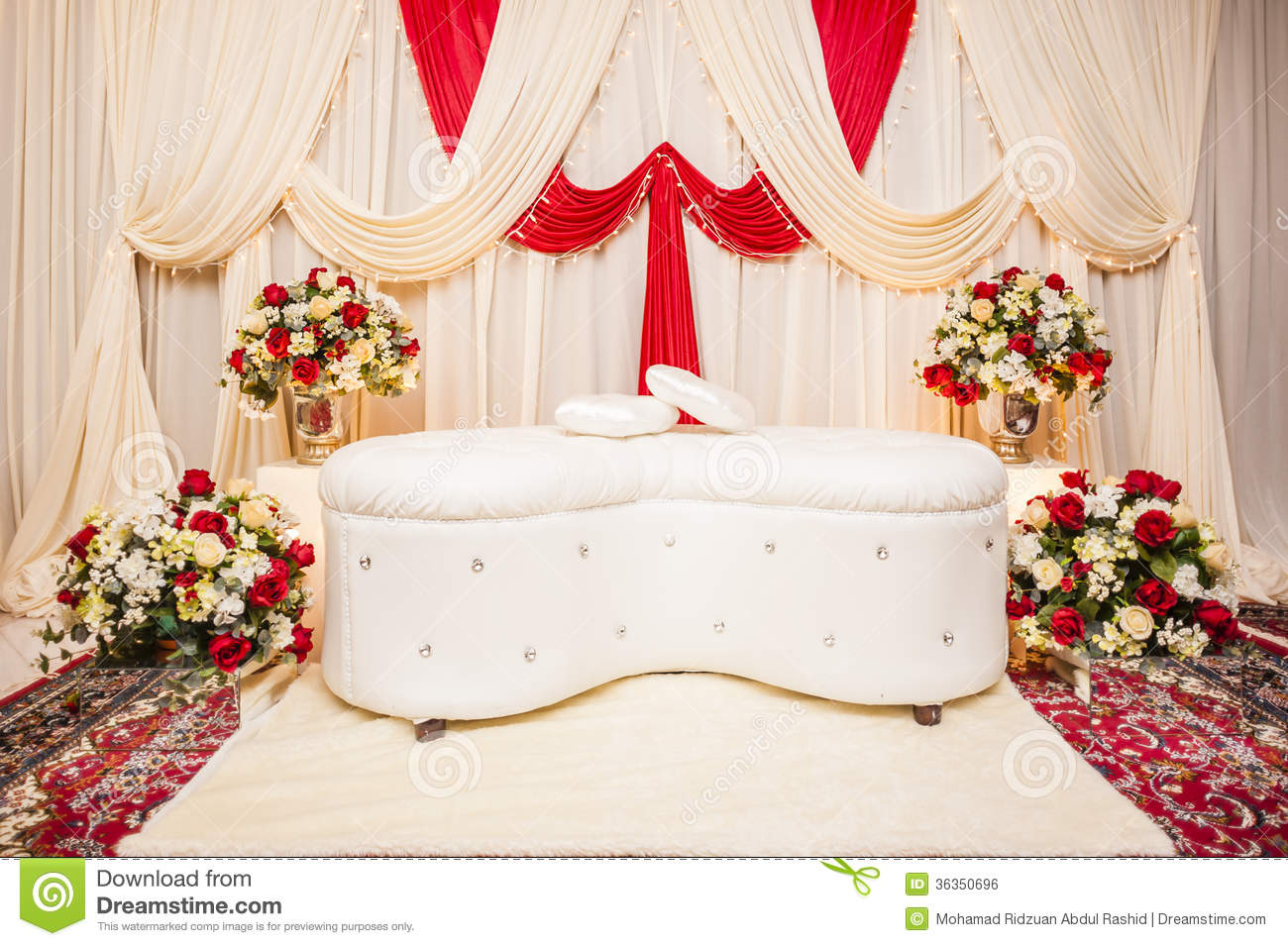 Wedding altar stock photo image of stage life backdrop for Altar decoration wedding