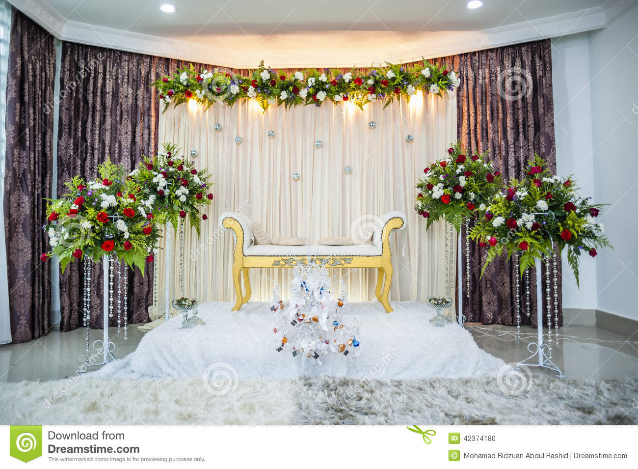 Wedding altar stock photo image of wedding marriage for Altar wedding decoration