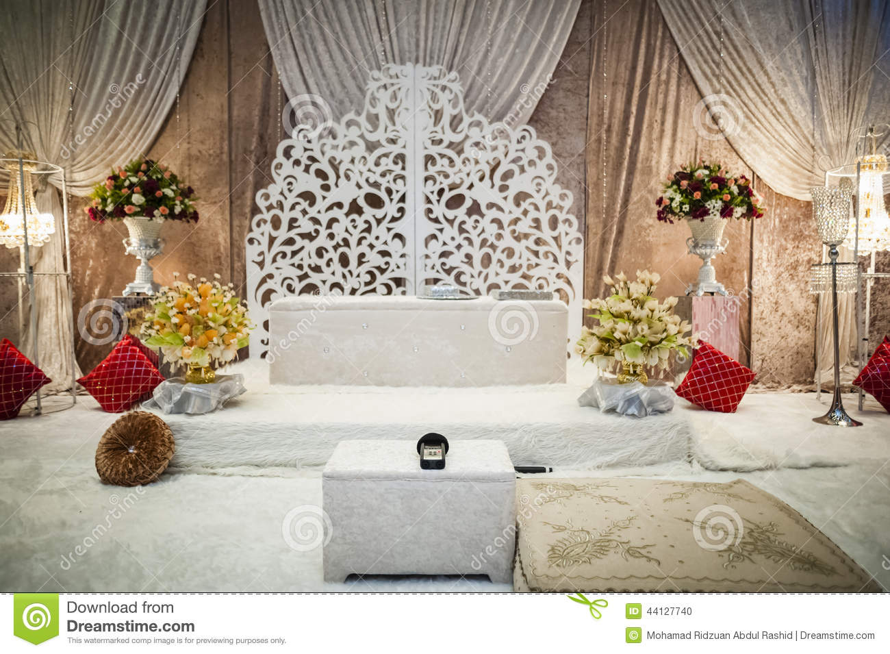 Wedding Altar Stock Photo Image Of Decoration Backdrop 44127740