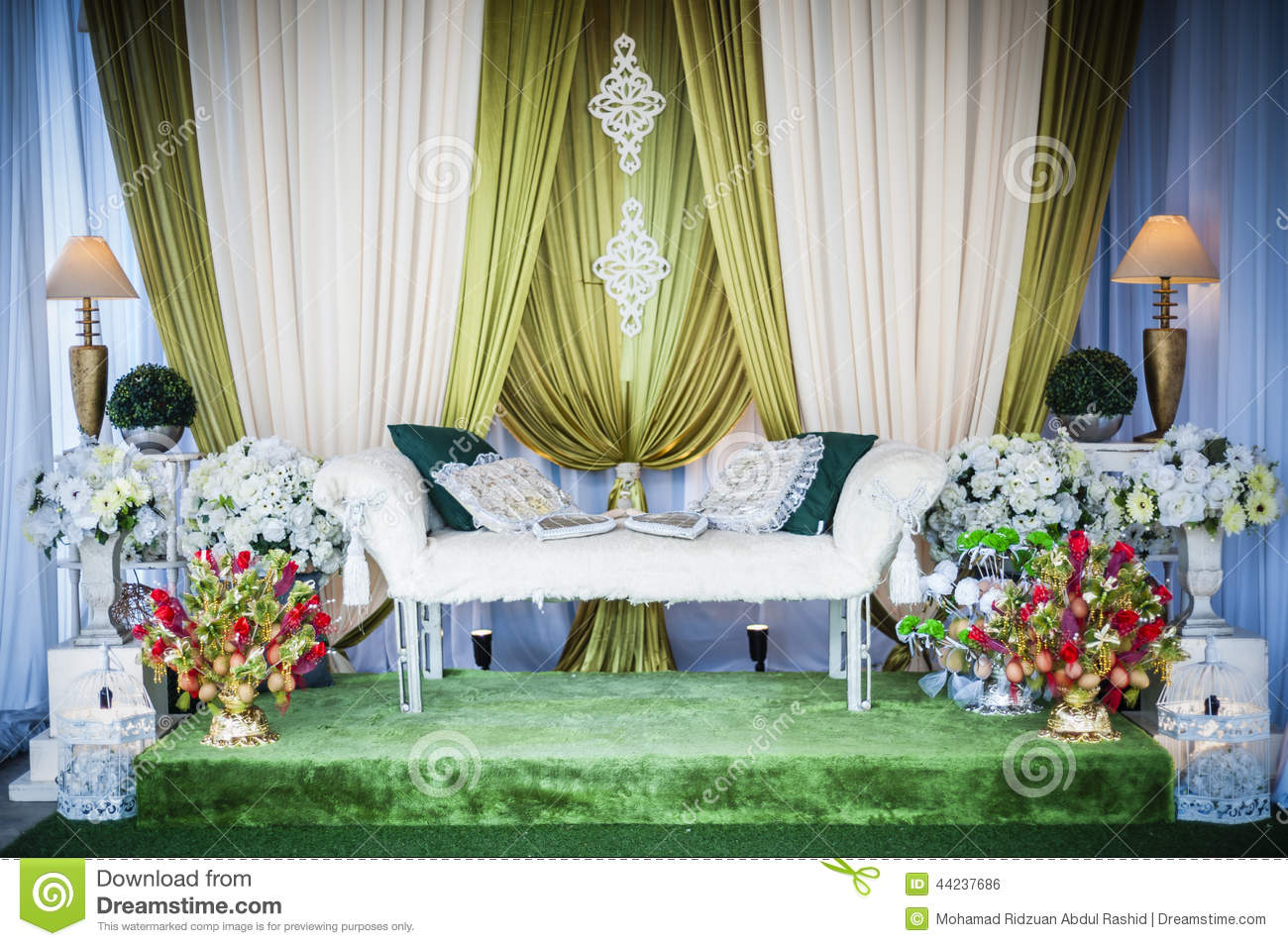 Wedding altar stock photo image 44237686 for Altar wedding decoration