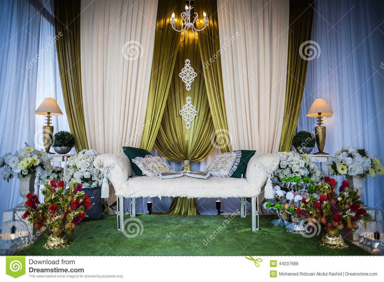 Wedding altar stock photo image 44237688 for Altar wedding decoration