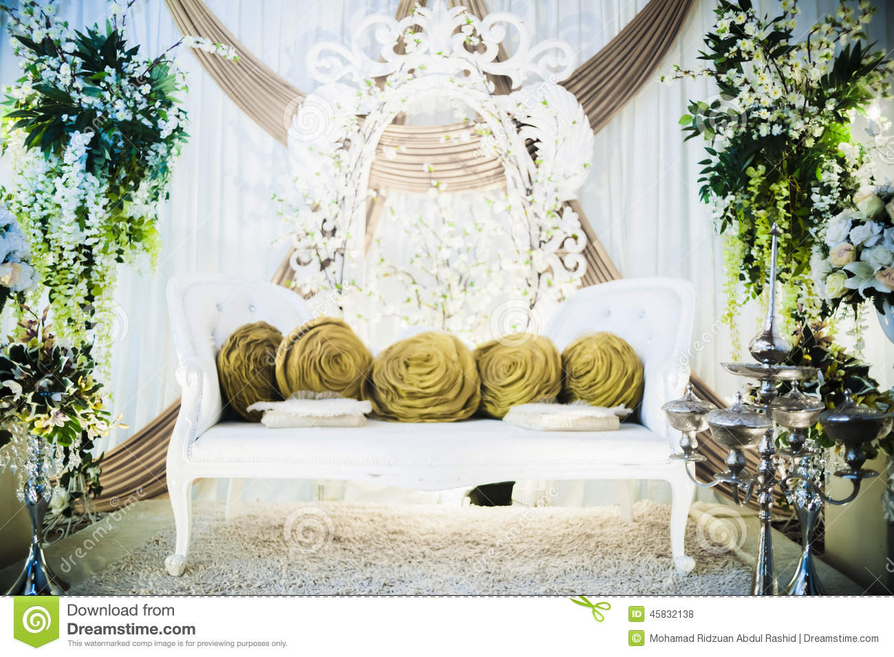 Wedding Altar Stock Photo Image Of Flowers Stage Indoor 45832138
