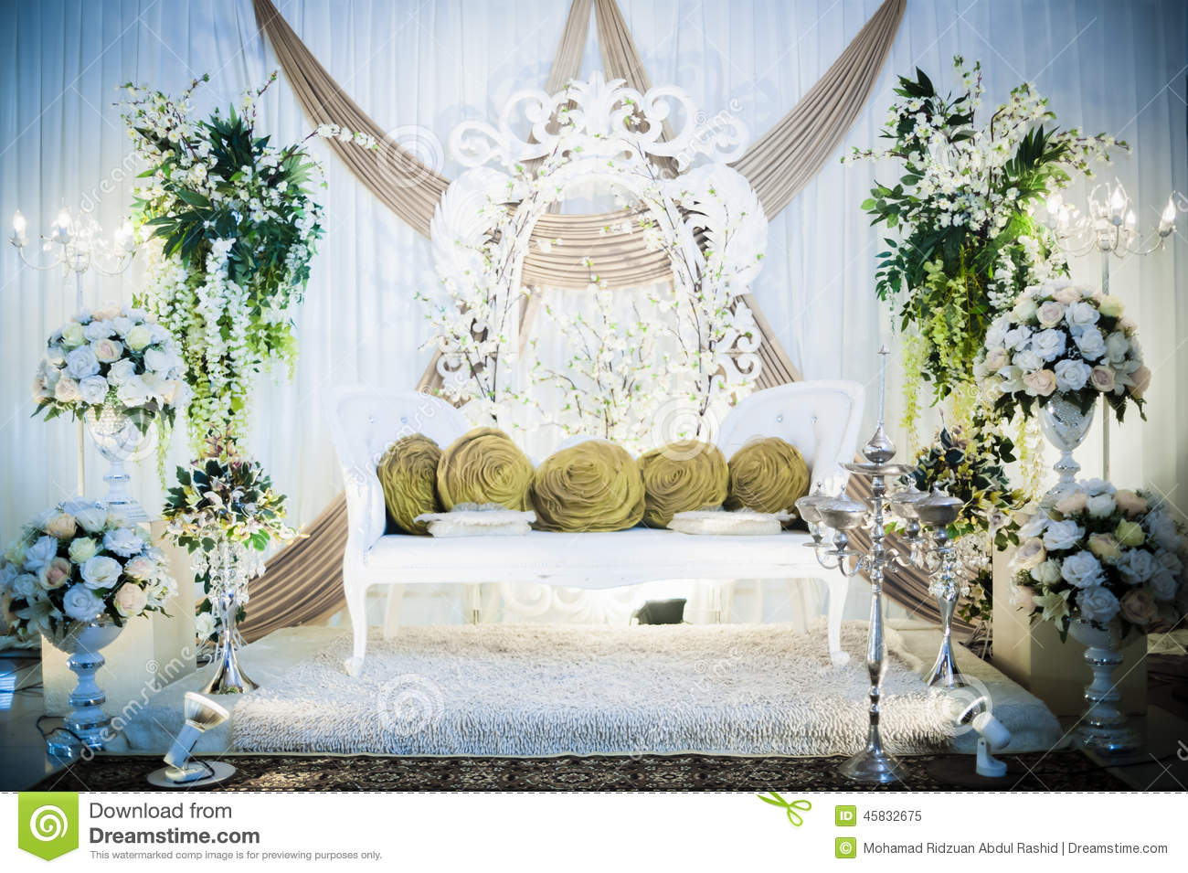 Wedding Altar Stock Image Image Of Prop Backdrop Business 45832675