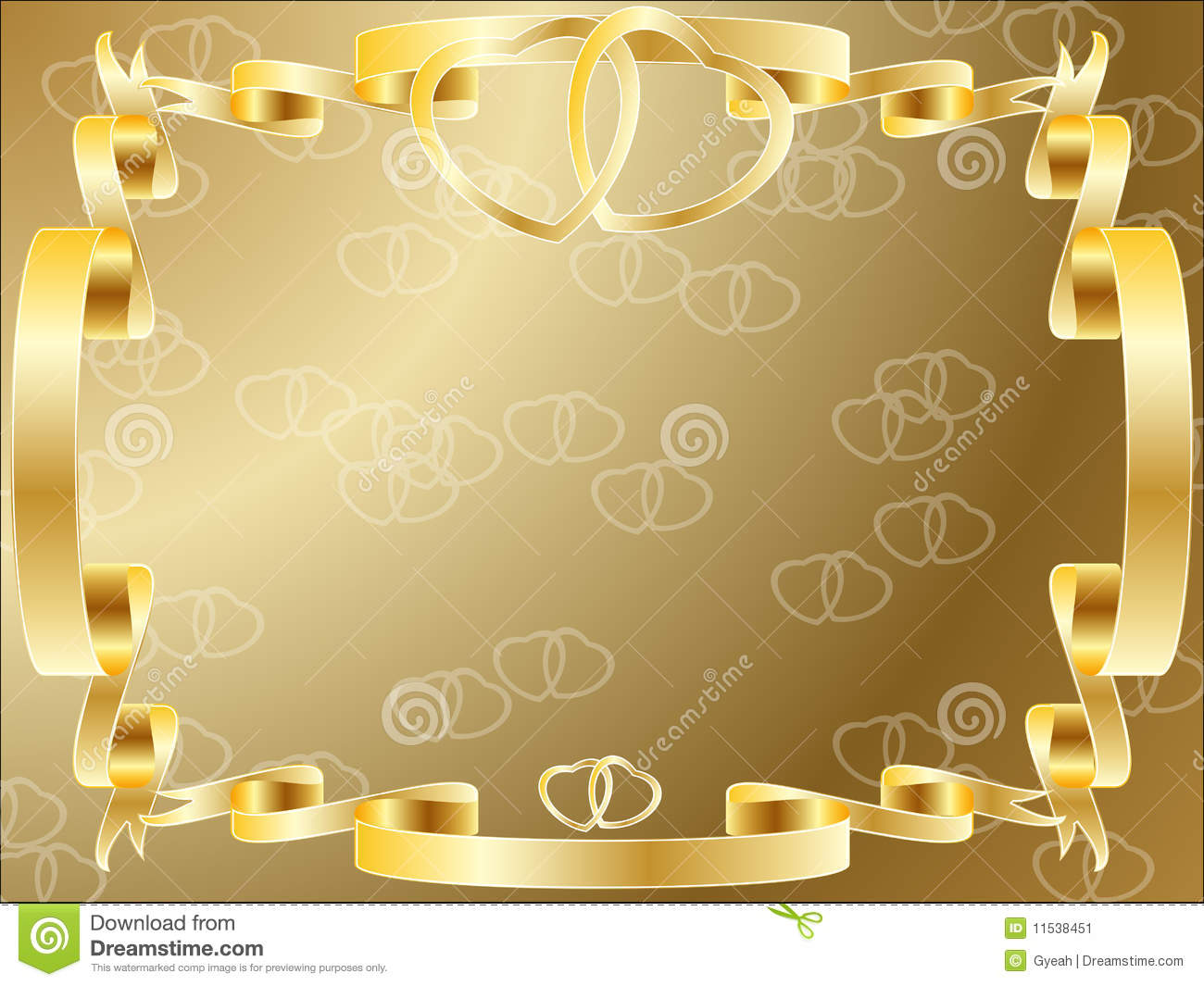 Wedding Anniversary Border Invitation Stock Vector Image