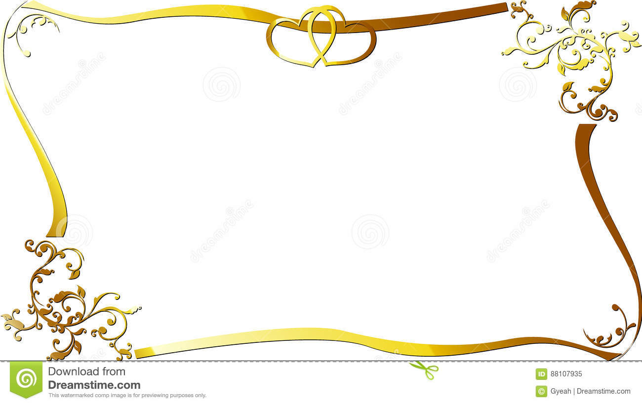 Wedding Anniversary Border Invitation Stock Vector Illustration Of