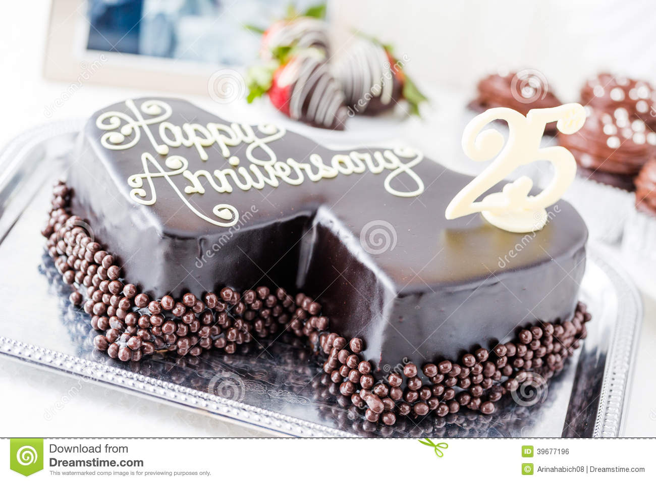 Anniversary Chocolate Cake Design : Wedding anniversary stock photo. Image of celebration ...