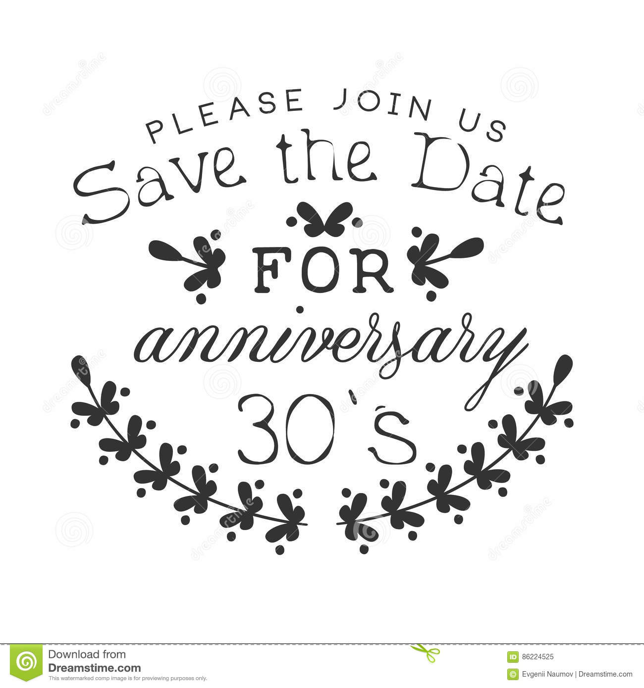Wedding Anniversary Party Black And White Invitation Card