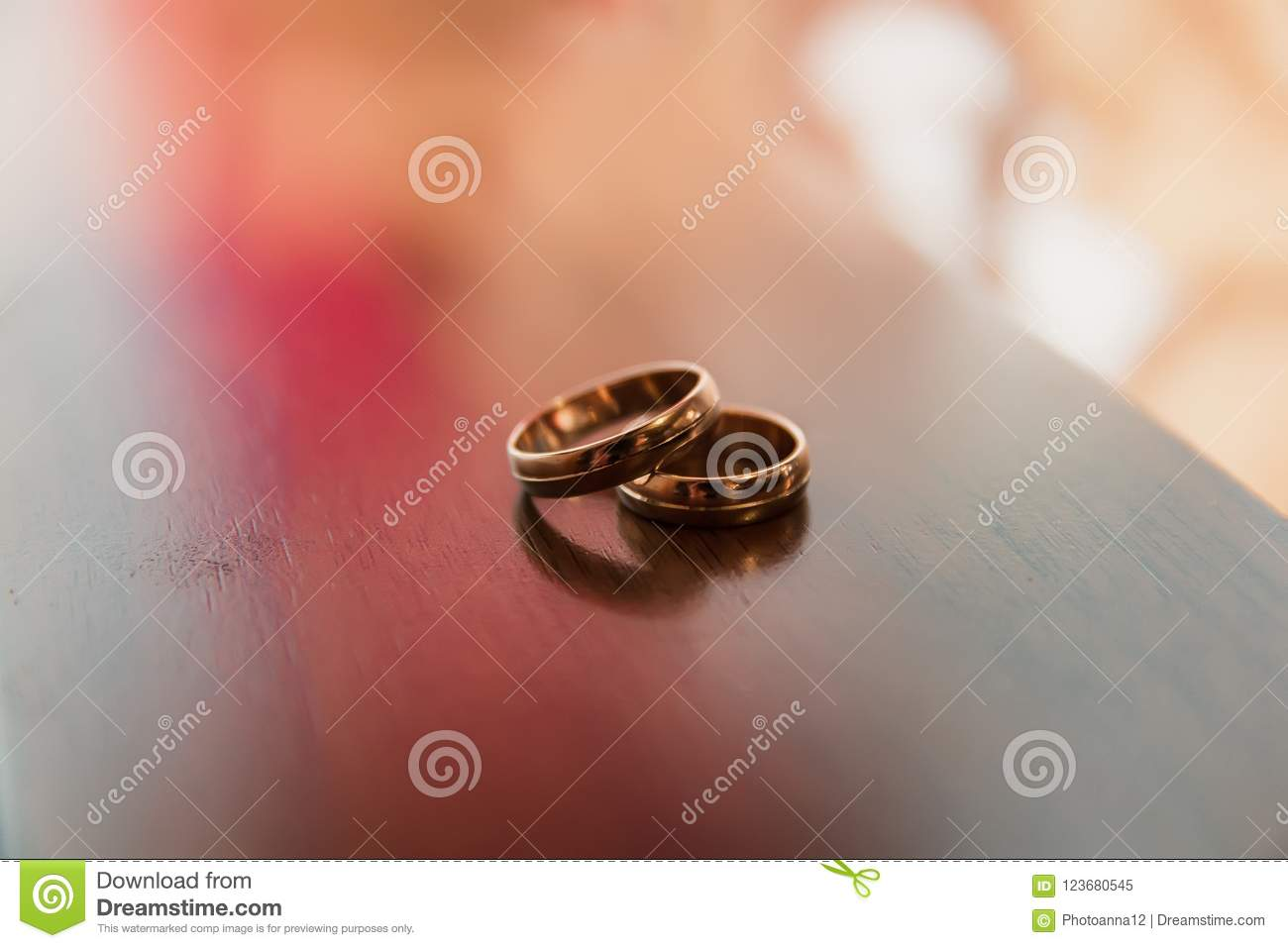 Wedding Anniversary Wedding Rings Gold Stock Image Image Of