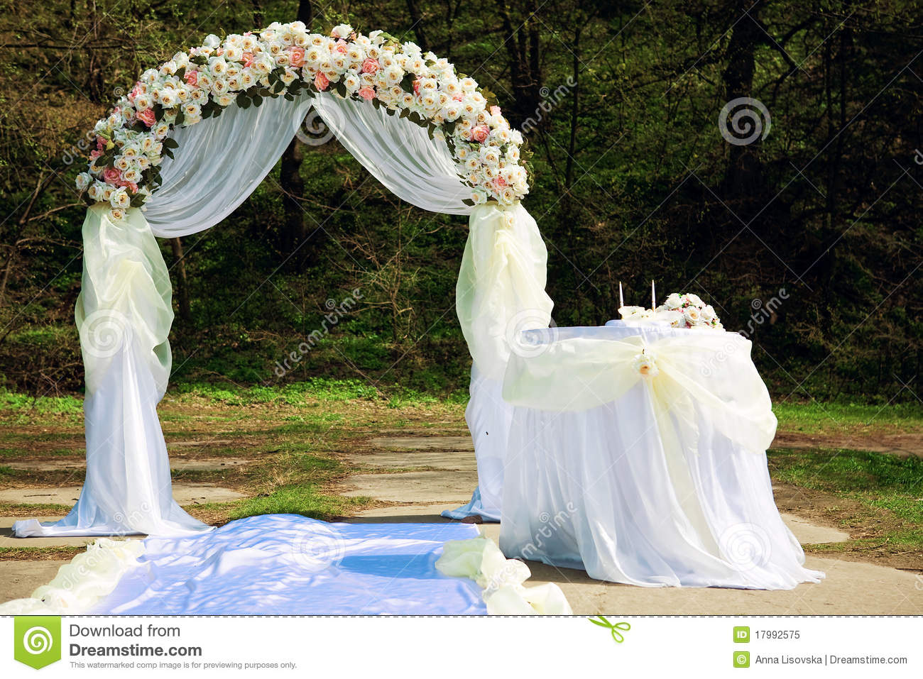Wedding Arch Royalty Free Stock Photo Image 17992575