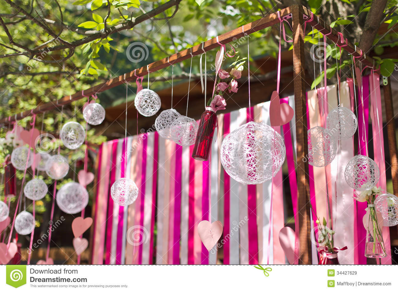 Wedding arch stock image image of ribbon outside details 34427629 wedding arch junglespirit Choice Image