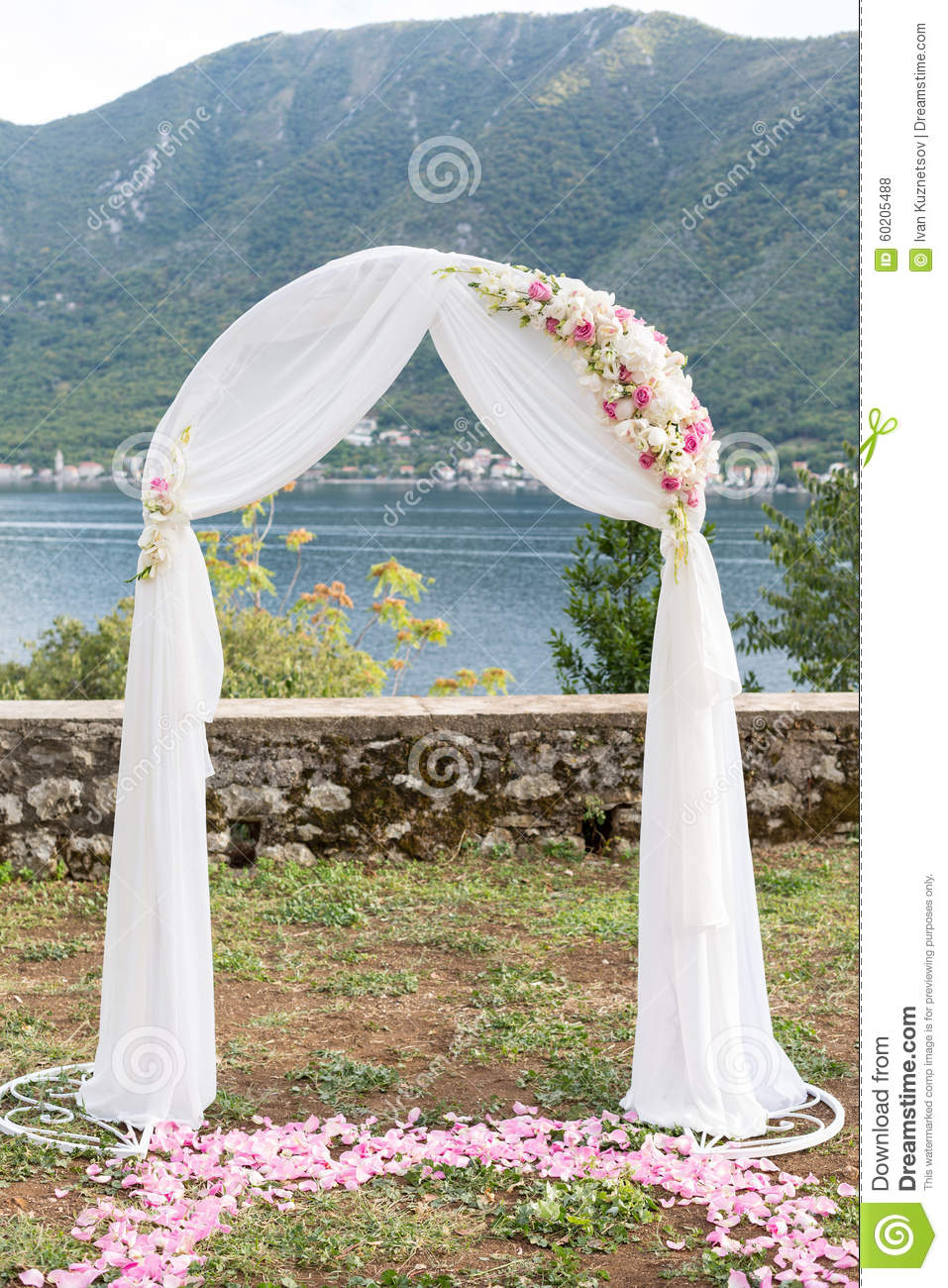 Wedding arch decorated with flowers outdoors stock photo image of download comp junglespirit Images
