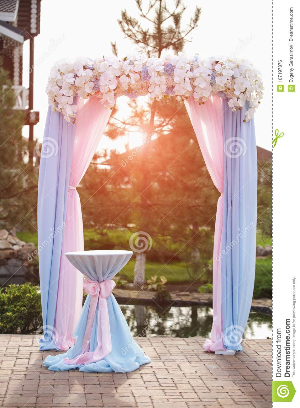 Wedding arch decorated with fresh flowers stock photo image of download wedding arch decorated with fresh flowers stock photo image of wedding elements junglespirit Choice Image