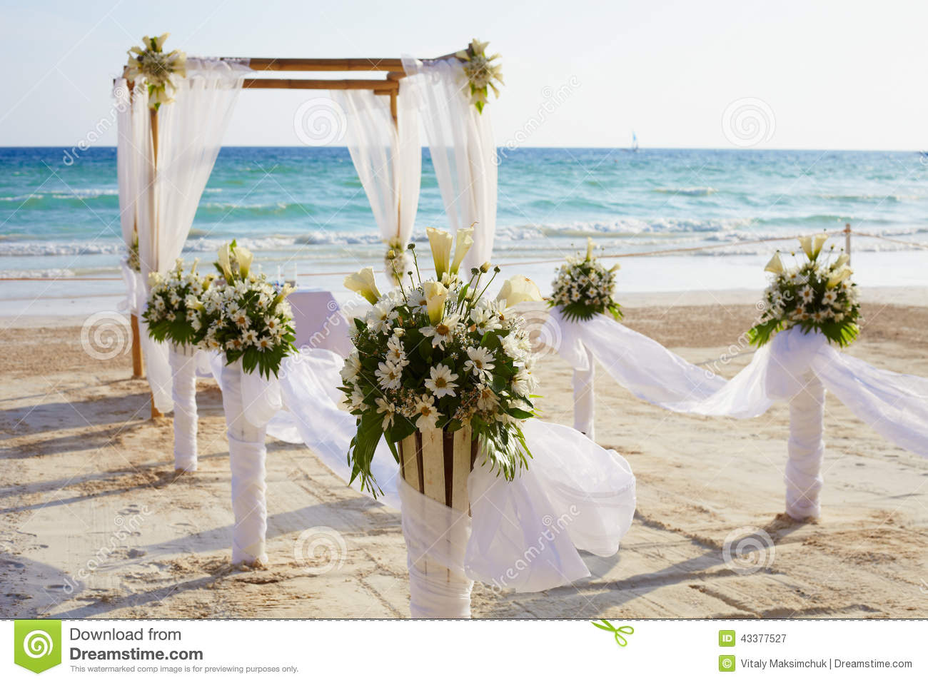 Beach Wedding Arch Ideas: Wedding Arch A Stock Photo
