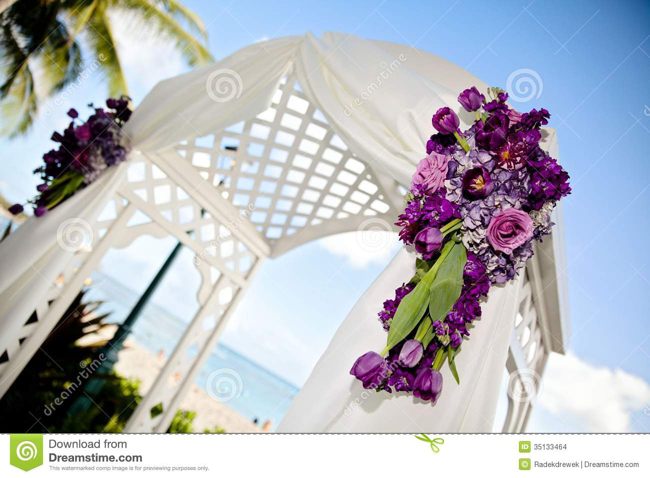 Wedding Arch stock photo. Image of love, hydrangeas ...