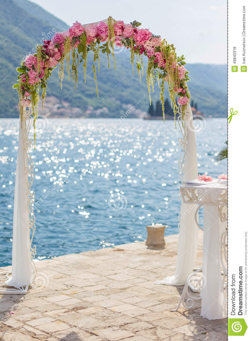 Wedding Arch Decorations Wedding Arch With Flowers Stock Photo Image 49840318