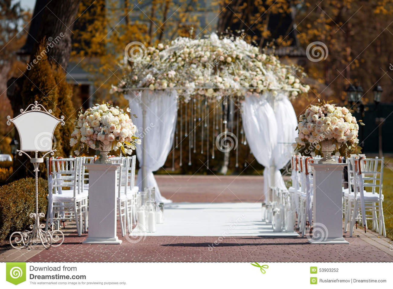 pictures of decorated arches for weddings wedding arch in the garden stock photo image of archway 6510