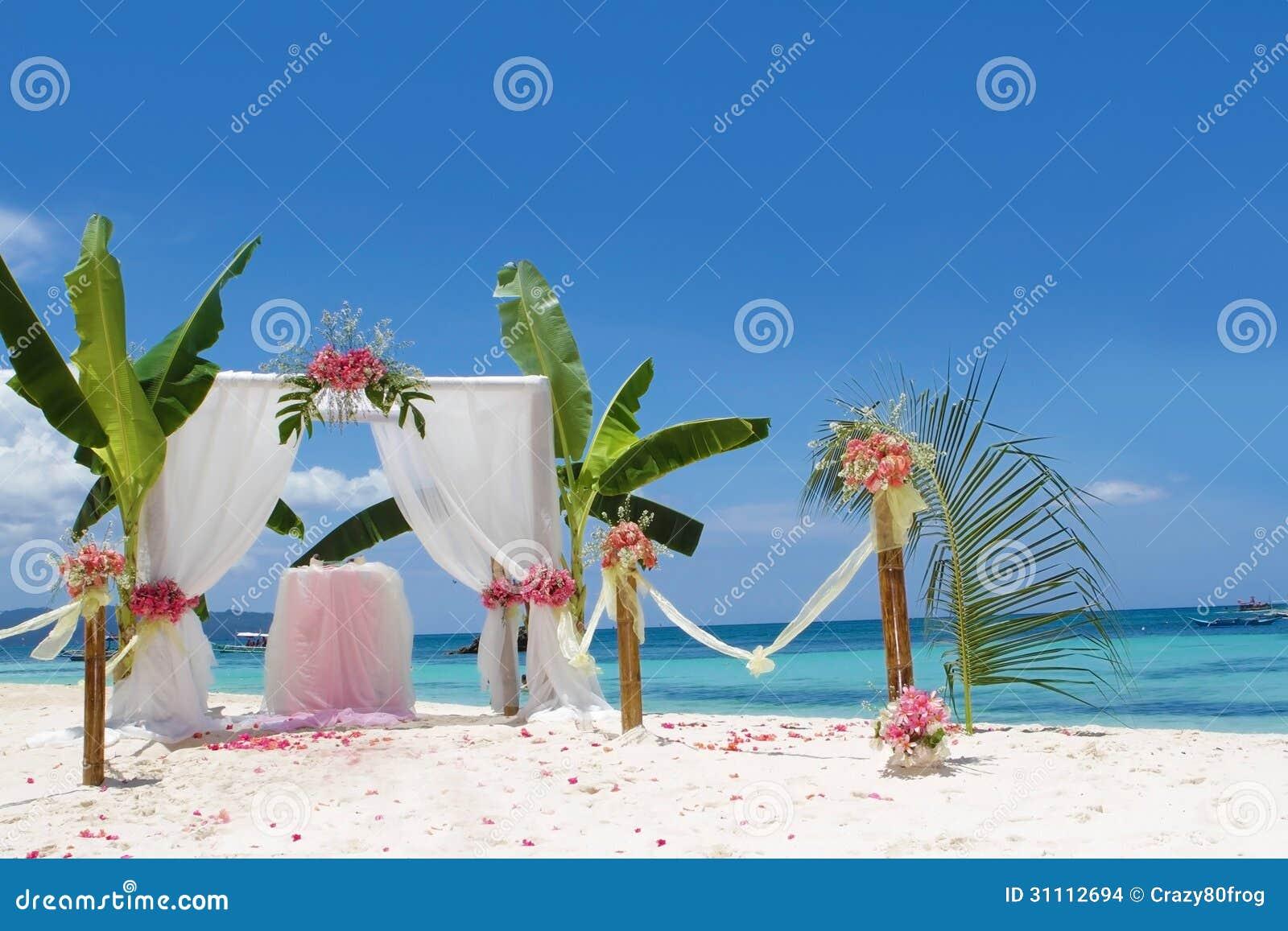 Background beach wedding