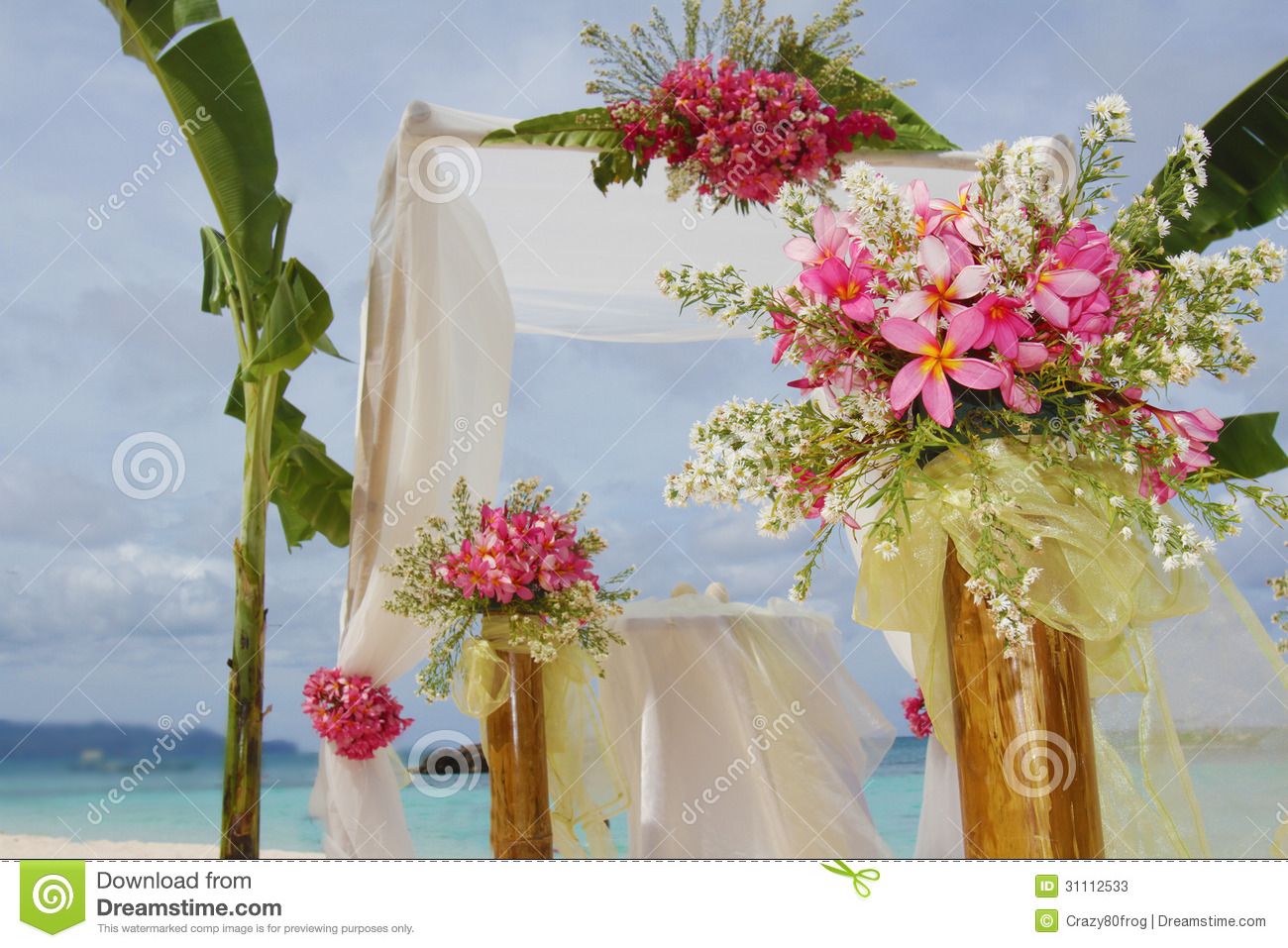 Wedding Arch Decorations Wedding Arch And Set Up Stock Photos Image 31112533