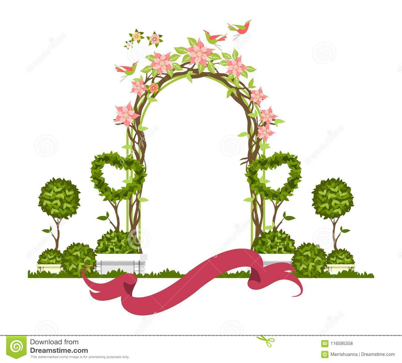 Wedding Arch Vector Stock Vector Illustration Of Background 116595358