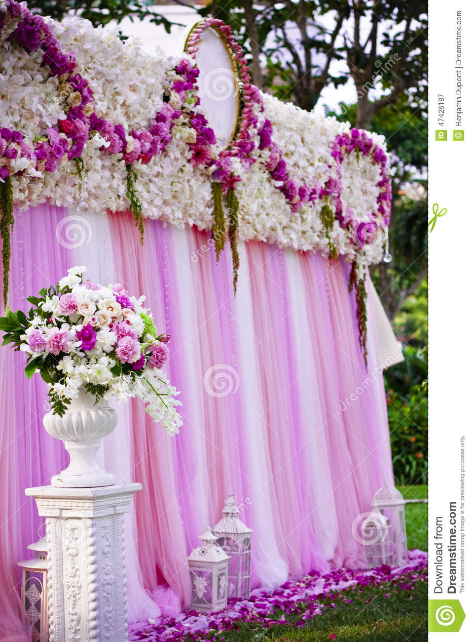 Pink Wedding Backdrop For Party Stock Image Image 47426187