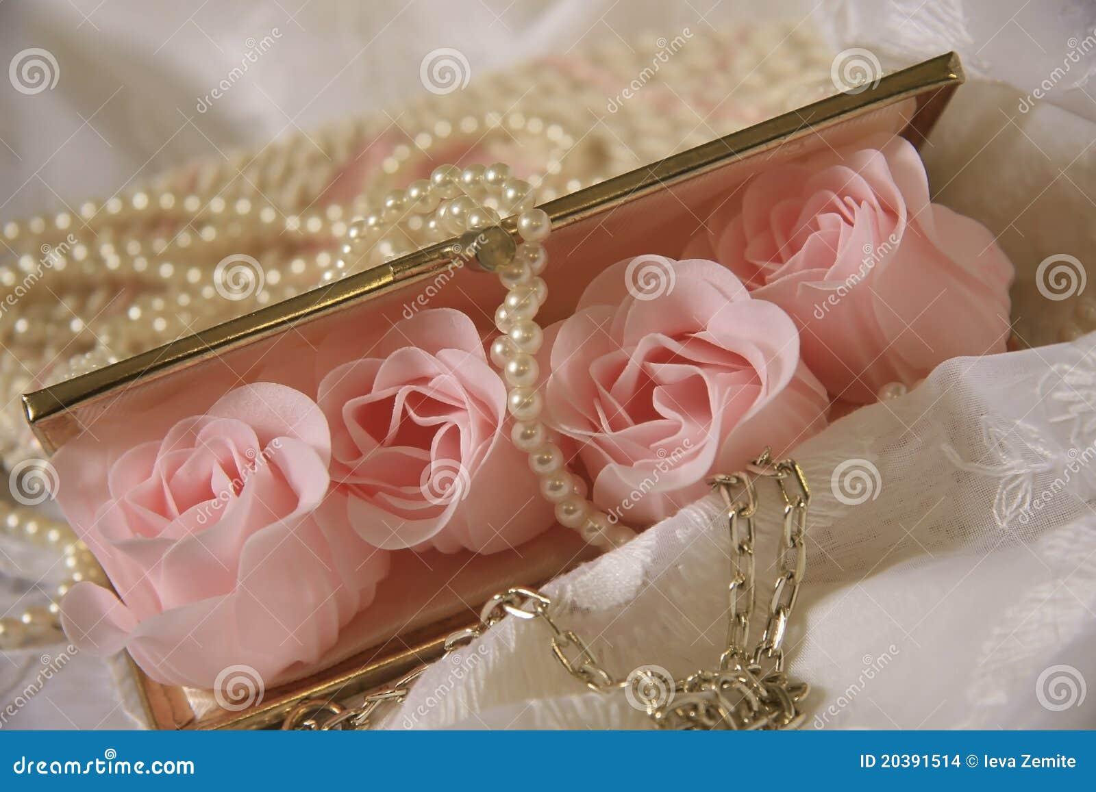 Wedding accessories pearls flowers pearls - Accessories Background Pearls Purse Wedding