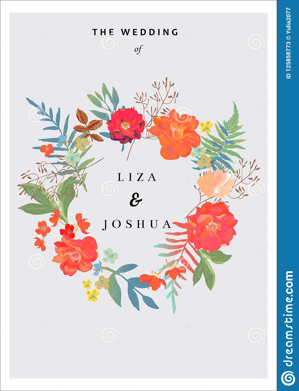 Wedding Background With Floral Background Invitation Cards