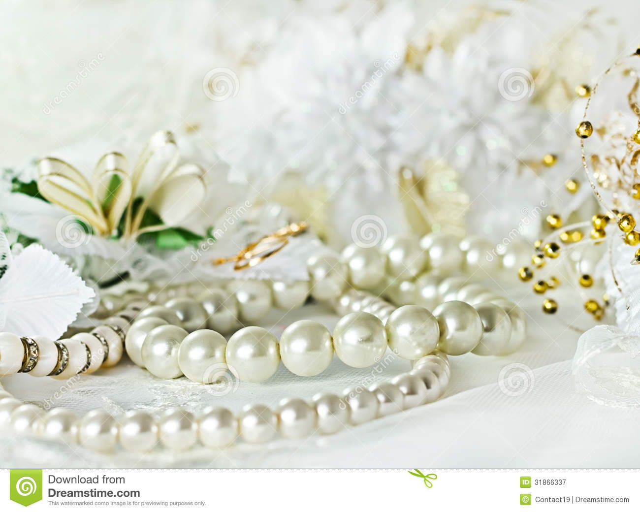 Wedding Background With Pearl Royalty Free Stock ...
